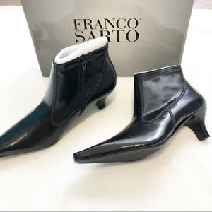 Franco Sarto black pointed ankle heels NIB 8.5